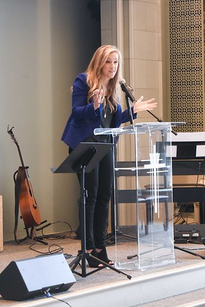 Megan Alexander speaks at Chapel