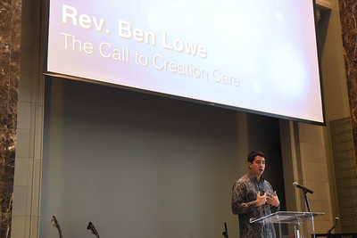 Rev. Ben Lowe speaks at Chapel