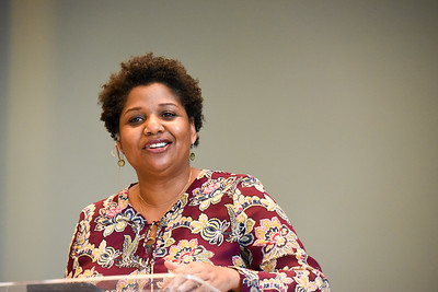 Rev. Sheila Bates speaks in Chapel