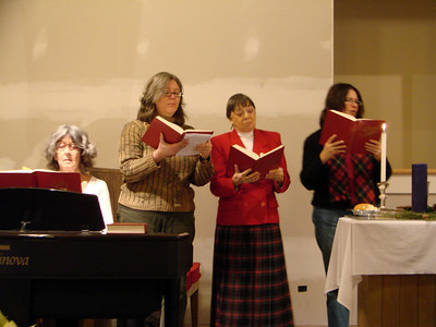 Our music is led by Sue Foster, musician, and Elizabeth Loring, Ruth Rosene, and Cheryl West-Knight, song leaders