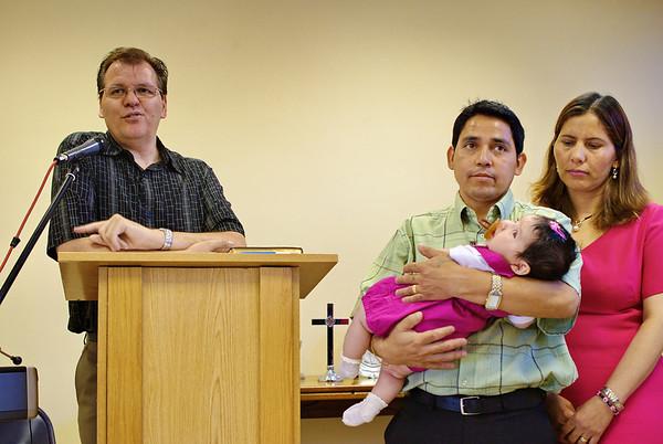 Ainoa's Dedication at Church
