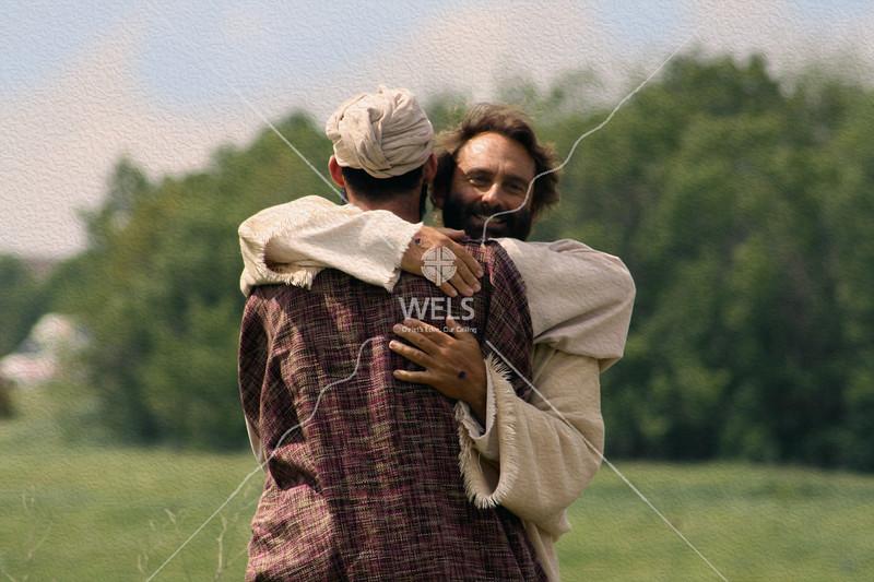 Jesus greeting John