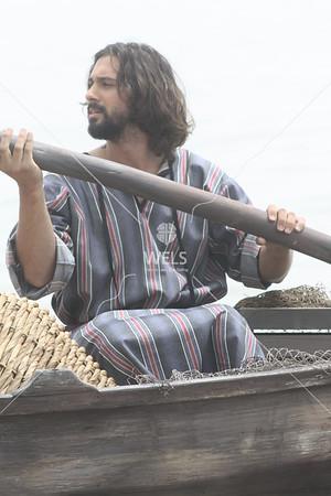 Fisherman with oar by jduran