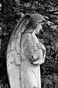 Protecting Angel headstone at Juniper Hill Cemetary, Bristol, RI