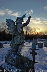 Angel watching over