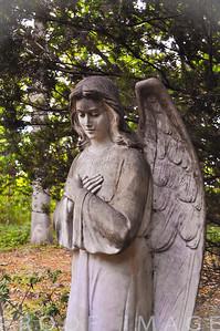 Angel Watching Over at Juniper Hill Cemetary, Bristol, RI