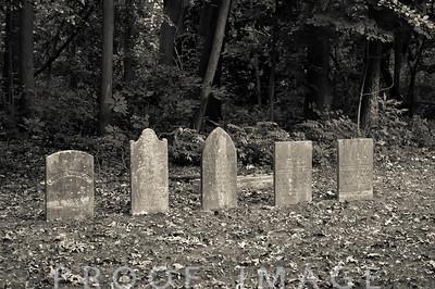 Graveyard headstones at Juniper Hill Cemetary, Bristol, RI