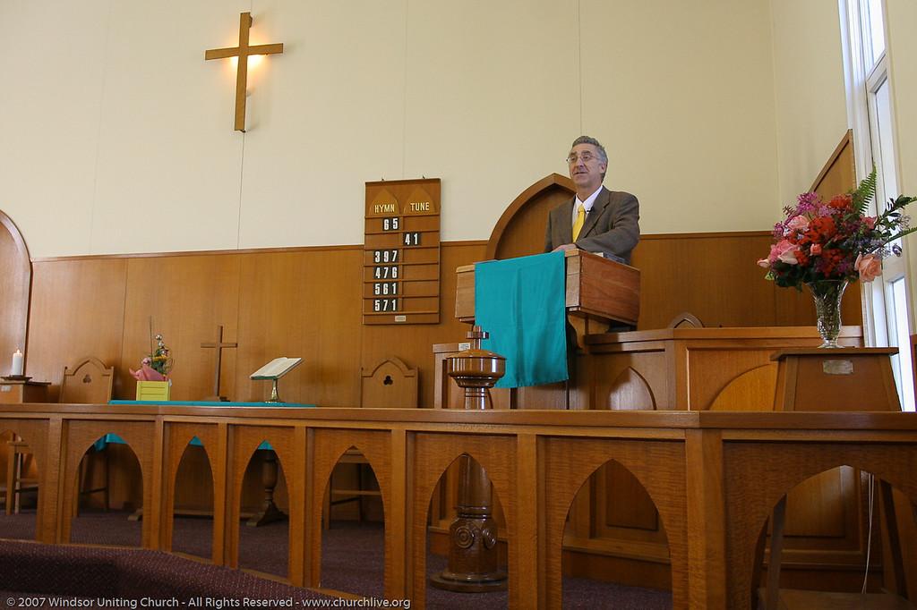 "Rev Dan Skippen - churchlive.org - ""Step into the Light"" - Windsor Uniting Church, Brisbane, Queensland, Australia."