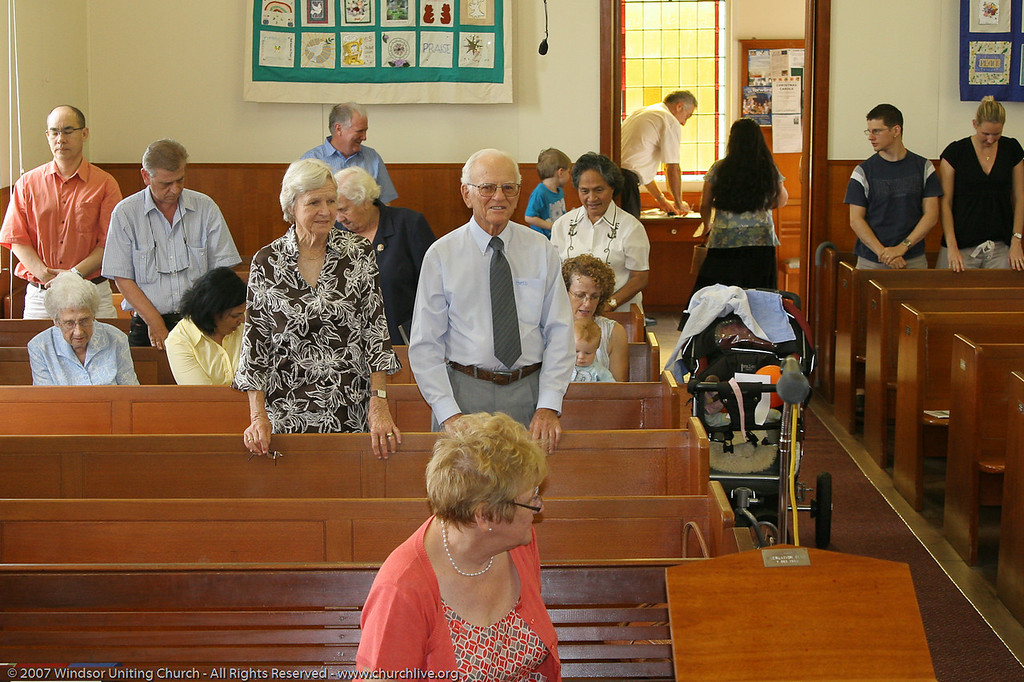 "Benediction / Closure - churchlive.org - ""Step into the Light"" - Windsor Uniting Church, Brisbane, Queensland, Australia, 2008."