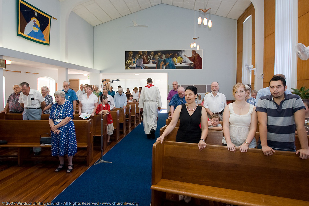 """Combined Service at Wilston Uniting Church - churchlive.org - """"Step into the Light"""" - Windsor Uniting Church, Brisbane, Queensland, Australia, 2008."""
