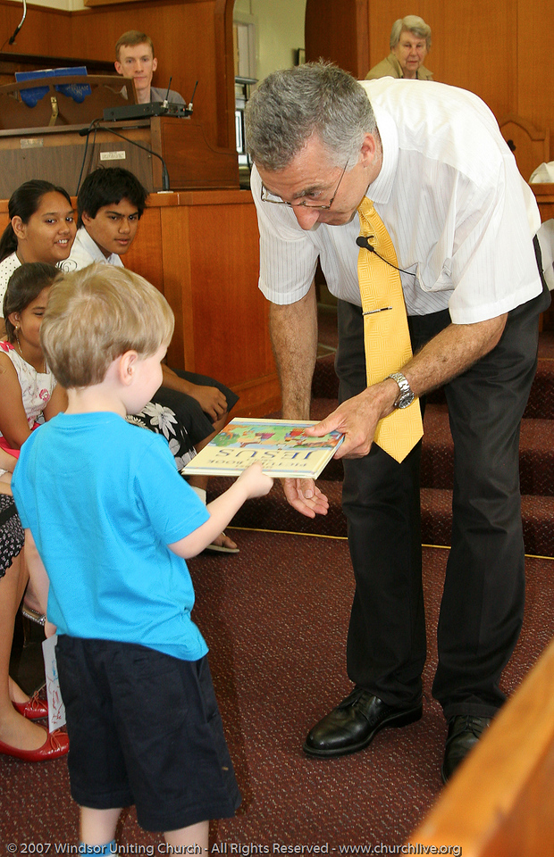 "Sunday School Presentation Day - churchlive.org - ""Step into the Light"" - Windsor Uniting Church, Brisbane, Queensland, Australia, 2008."