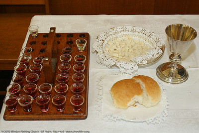 Holy Communion - churchlive.org - Windsor Uniting Church, Brisbane, Queensland, Australia, 2008.