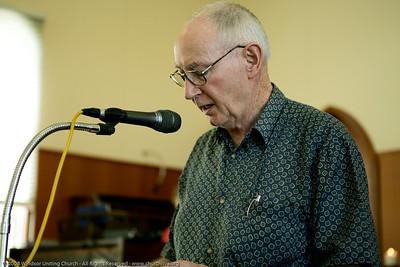 Ian presents the Bible Reading - churchlive.org - Windsor Uniting Church, Brisbane, Queensland, Australia, 2008.