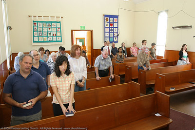 Benediction - churchlive.org - Windsor Uniting Church, Brisbane, Queensland, Australia, 2008.