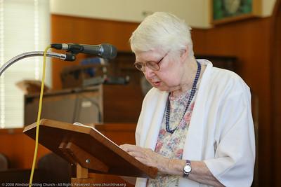 Josie presents the Bible Reading - churchlive.org - Windsor Uniting Church, Brisbane, Queensland, Australia, 2008.