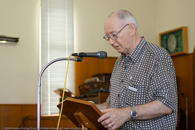Ian presents the Bible Reading - churchlive.org - Windsor Uniting Church, Brisbane, Queensland, Australia, 2008.