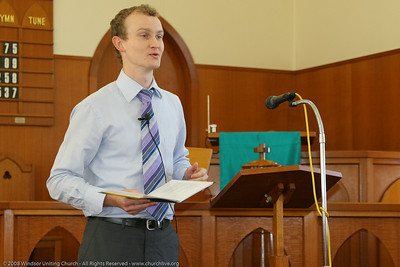 Guest Jock Dunbar - churchlive.org - Windsor Uniting Church, Brisbane, Queensland, Australia, 2008.