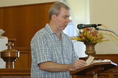 Bible Reading - churchlive.org - 'Step into the Light' - Windsor Uniting Church, Brisbane, Queensland, Australia