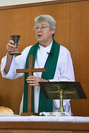 Celebrating Holy Communion - churchlive.org - 'Step into the Light' - Windsor Uniting Church, Brisbane, Queensland, Australia.