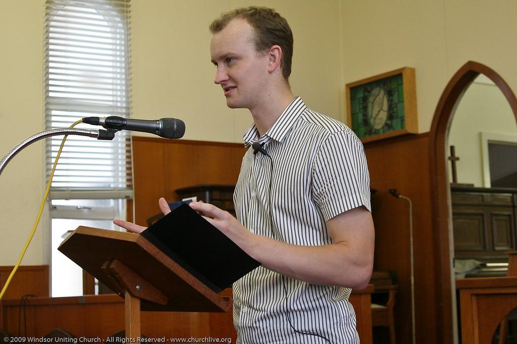 Visiting Minister Jock Dunbar - churchlive.org - Windsor Uniting Church, Brisbane, Queensland, Australia