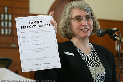 Announcements - Linda Hamill - churchlive.org - 'Step into the Light' - Windsor Uniting Church, Brisbane, Queensland, Australia.