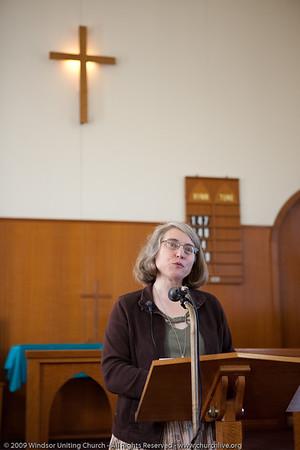 Linda Hamill - churchlive.org - 'Step into the Light' - Windsor Uniting Church, Brisbane, Queensland, Australia.