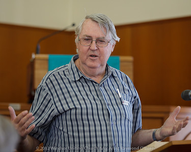 Artist Raymond O'Brien - Churchlive.org - 'Step Into the Light' - Streaming Church Netcast from Windsor Uniting Church, Brisbane, Queensland, Australia.
