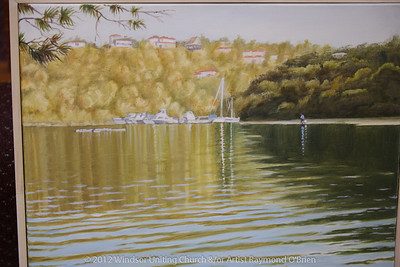 Painting by Raymond O'Brien - Churchlive.org - 'Step Into the Light' - Streaming Church Netcast from Windsor Uniting Church, Brisbane, Queensland, Australia.