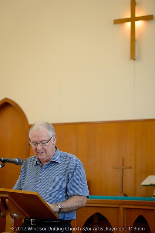 Bible Reading - Bob - Churchlive.org - 'Step Into the Light' - Streaming Church Netcast from Windsor Uniting Church, Brisbane, Queensland, Australia.
