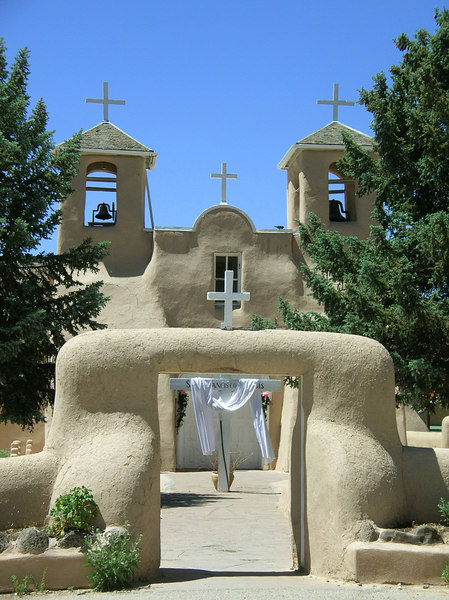 This mission church is on of the oldest churches in America dedicated to San Francisco De Assis, constructed between 1813 -1815 under the direction of Fray Jose Benito Pereyro.<br /> San Francisco De Asis Church<br /> Rancho De Taos, New Mexico