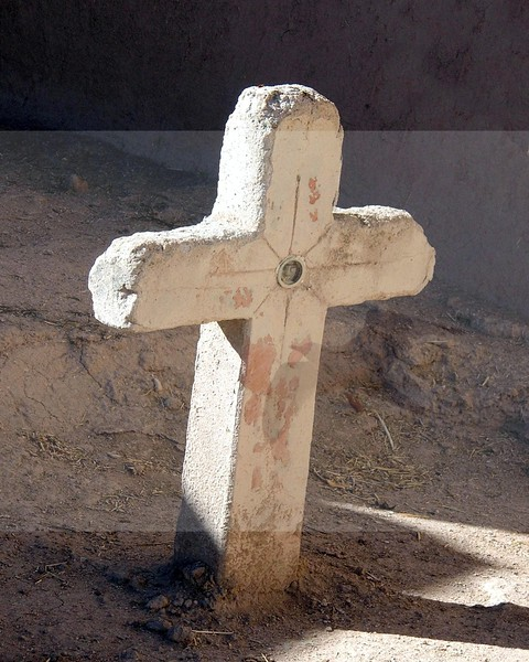 Cross in Court Yard of San Jose De Gracia Catholic Church<br /> Las Trampas, New Mexico