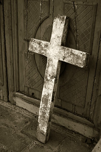 Cross sepia