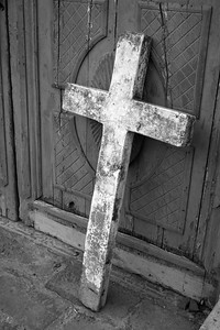 Cross at Hacienda Cusin, Ecuador B&W