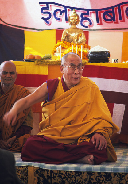 Until you realize that the basic, innate mind of clear light is your true nature, you remain a sentient being; but when you understand your ultimate nature, you become a Buddha. —His Holiness the Dalai Lama <i> L1247 Dalai Lama, Allahabad</i>