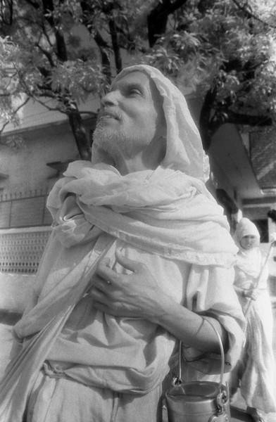 There is in the cosmos, in the collectivity, in the individual, a rooted instinct or belief in its own perfectibility, a constant drive towards an ever-increasing and more adequate and more harmonious self-development nearer to the secret truth of things. —Aurobindo <i> L0950 sadhu, Rishikesh, infrared </i>