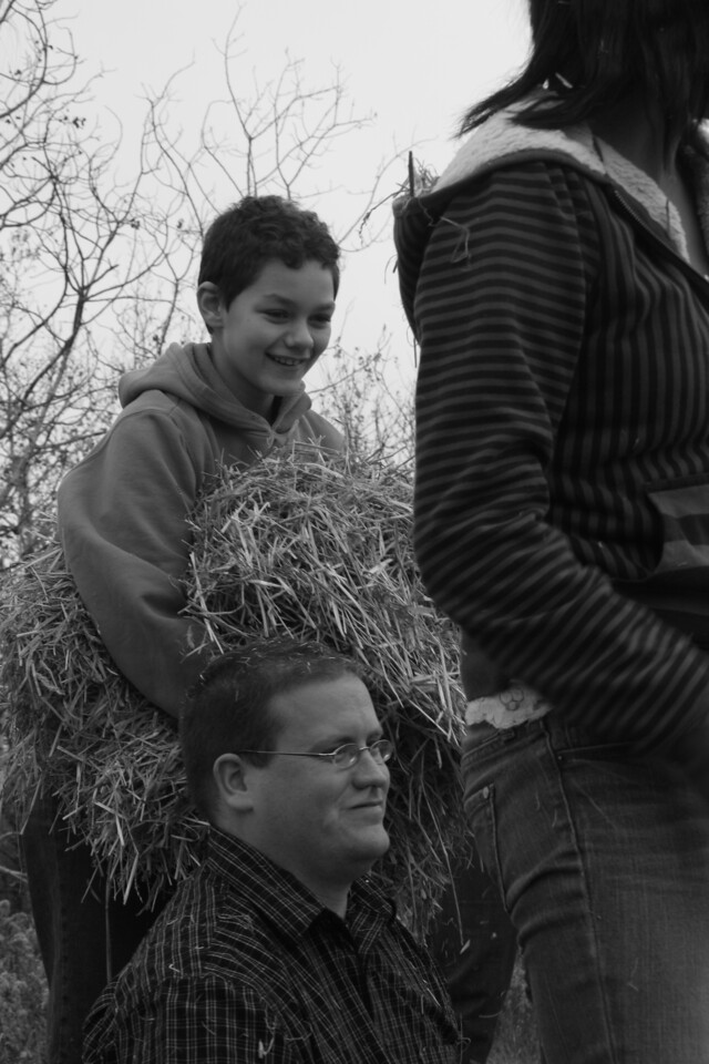 Eternal Hope Lutheran youth and friends have fun on hay ride at Bunker Park, and beautiful weather.