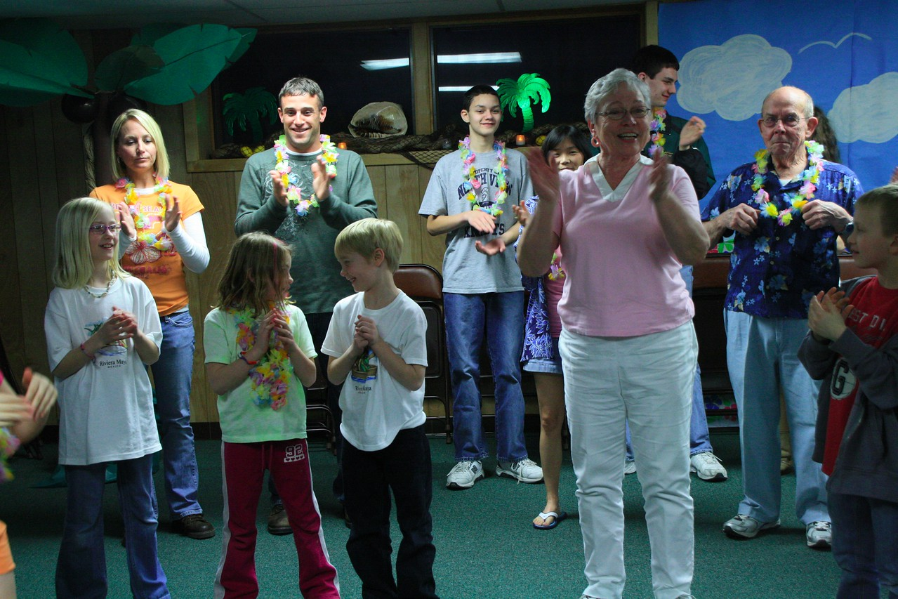 Fun family night where all enjoyed entertainment, food, special ice cream treats and delicious family drinks.  February 18, 2012.
