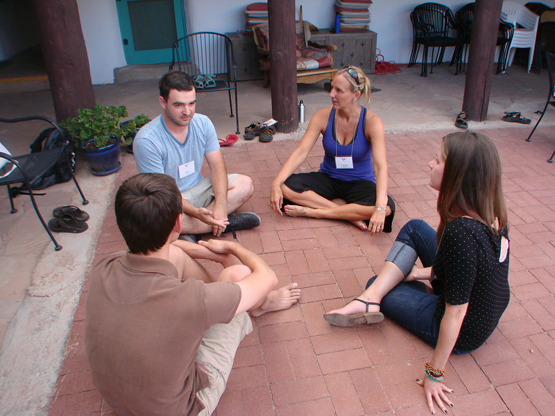 Retreatants met in the afternoons in the Casa del Sol Courtyard, and some of the participants' accommodations were at Casa del Sol.  http://www.salvaterravision.org/  http://www.ghostranch.org/