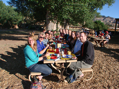 "Sharing breakfast during the retreat, ""To the Home of Peace: A Spirituality for Change"" at Ghost Ranch, Abiquiu, New Mexico. http://www.salvaterravision.org/  http://www.ghostranch.org/"