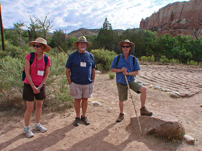 "John Philip Newell leading participants on a ""Pilgrimage Journey to the Source,"" Ghost Ranch, Abiquiu, New Mexico, photo by Larry Hastings http://www.ghostranch.org/"