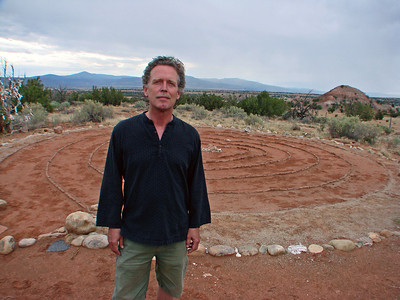 John Philip Newell, Heart Labyrinth, Casa del Sol, Ghost Ranch, Abiquiu, New Mexico, photo by Larry Hastings http://www.ghostranch.org/