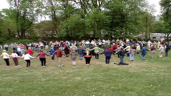 """We Circle Around"" Chant and Dance Shalem Institute       http://www.shalem.org/ Matthew Fox Conference   http://www.matthewfox.org/sys-tmpl/door/ Unitarian Universalist Church of Rockville   http://www.uucr.org/"