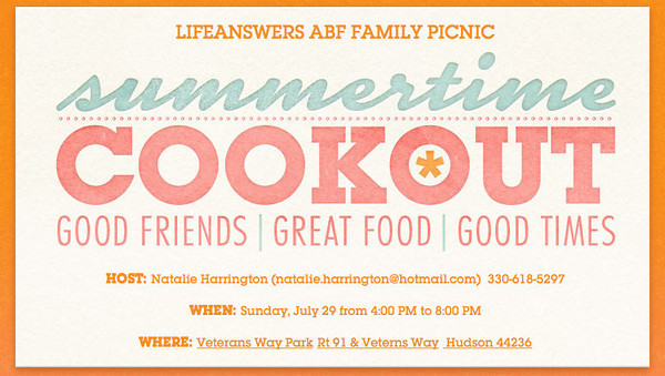 Life Answers ABF Cookout