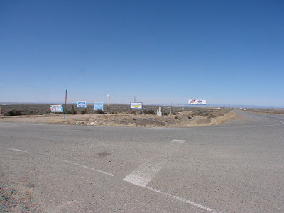 The Intersection of 550 and Co. Rd 7150 that leads to Hanaa'dli Community School/Dormitory Inc