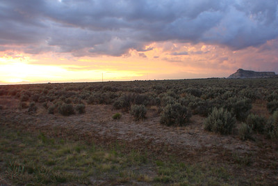 """New Mexico, """"the land of enchantment."""" Sunset of the last night of our Navajo Mission Trip."""
