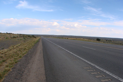 Highway in front of Dzilth-na-o-dith-hle