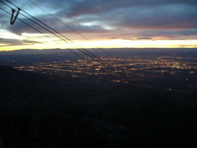 Albuquerque at dusk from Sandia Peak