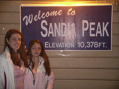 Amy & Heather on  top of Sandia Peak 10,378 ft