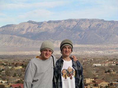 Sandia Peak behind Kenneth & Alex