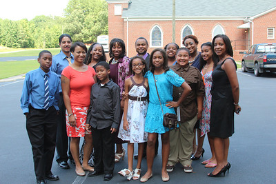 Christ Chosen Church church members at New Bethel Missionary Baptist Church, Macon, NC